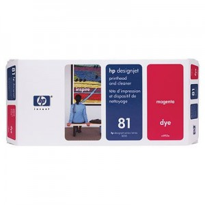 Hewlett Packard HP C4952A ( HP 81 ) Magenta Printhead InkJet Cartridge with Printhead cleaner