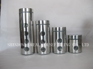 steel polished glass jars