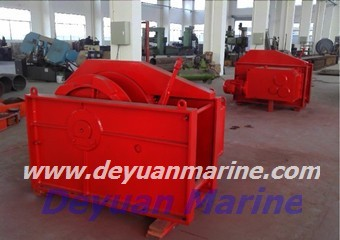 Hydraulic single gypsy mooring winch