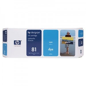Hewlett Packard HP C4931A ( HP 81 ) Cyan Dye Inkjet Cartridge