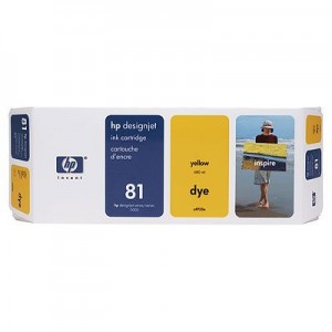 Hewlett Packard HP C4933A ( HP 81 ) Yellow Dye Inkjet Cartridge
