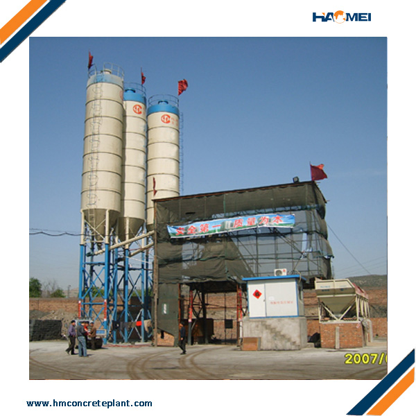 HZS50 concrete batching plants