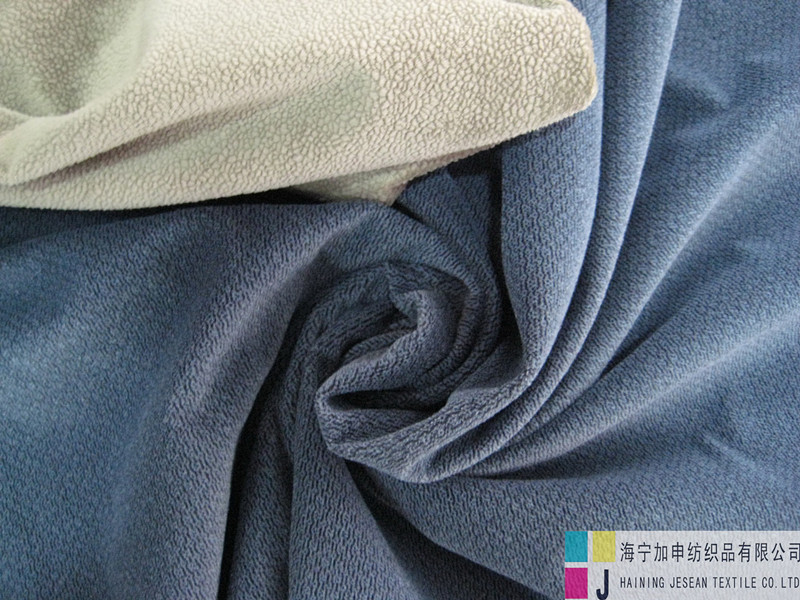 100%polyester cation knitted plush fabric