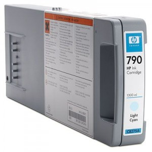 HP 790 1000-ml Light Cyan Ink Cartridge (CB275A)