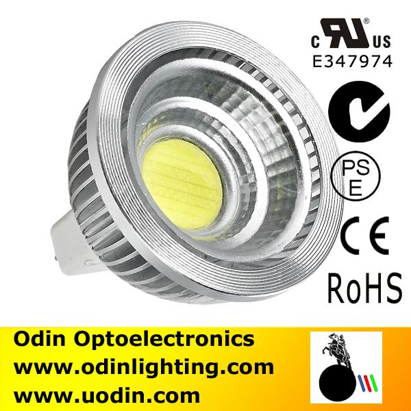 LED MR16 COB 5W Epistar led spotlight