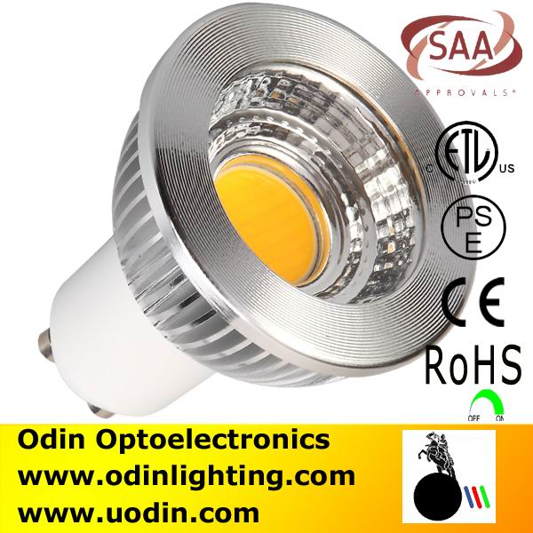 gu10 energy saving cob led spotlight 5w china factory UL CE SAA