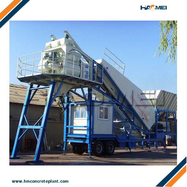 YHZS35 Small Mobile Concrete Batching Plant Manufacturers