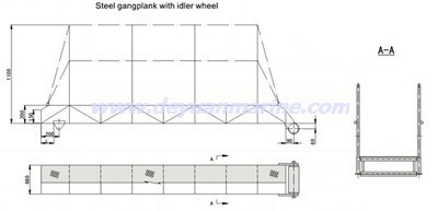 Steel Gangway Ladder With Roller