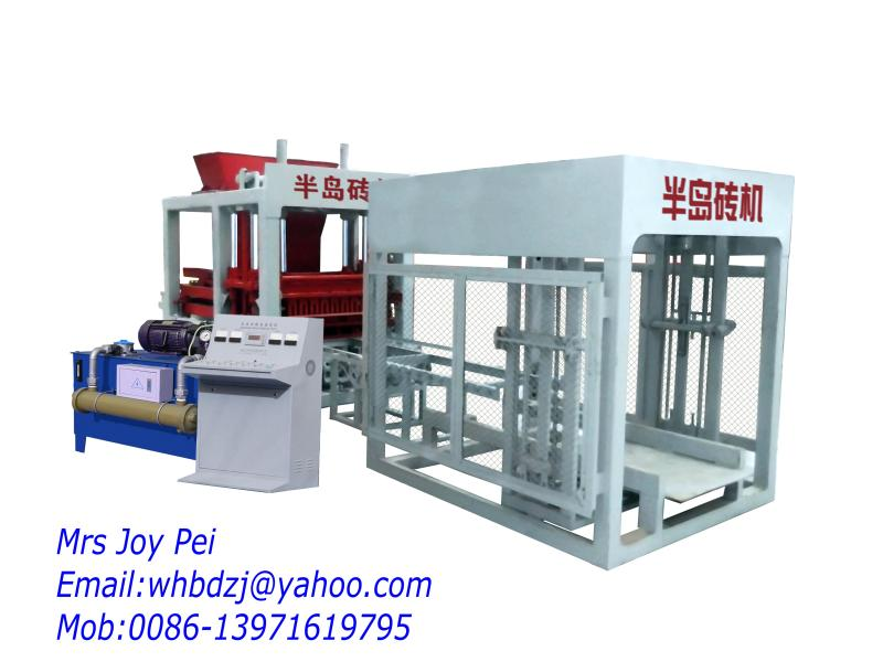 QT8-15 huge hydraulic flyash brick machine