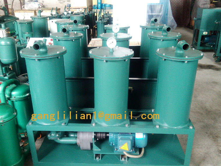 Portable hydraulic oil processing system/small waste oil filter machine