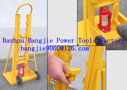 Hydraulic trapezoid cable drum jacks