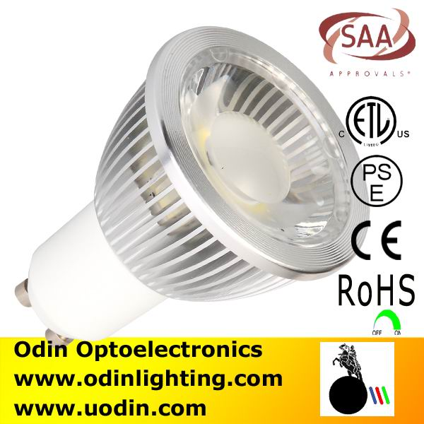 High Efficiency Dimmable Gu10 cob led spotlight waterproof outdoor COB LED Spotlight dimmable 220V