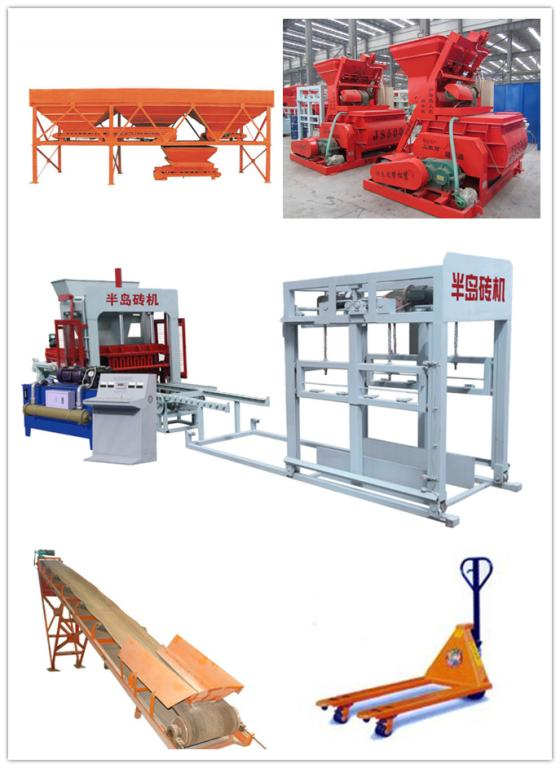 QT6-15 hydraulic vibrating brick making machine