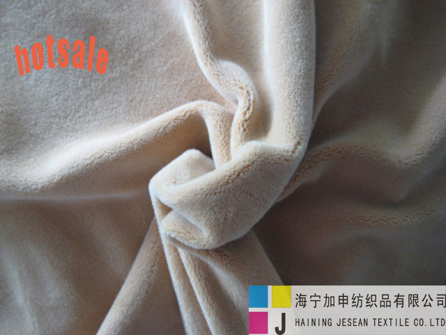 100%polyester knitted plush fabric
