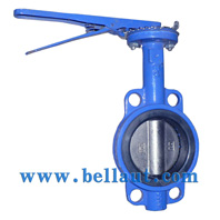 Manual-operated wafer butterfly valve