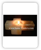 Onyx Cross Shaped Tea Light
