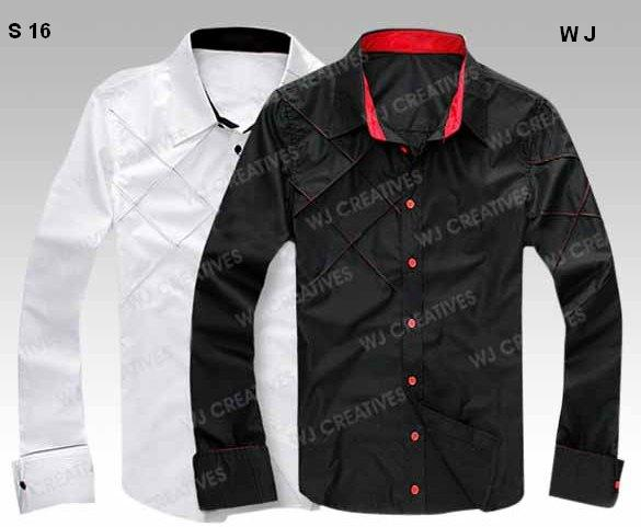 mIX COTTON WHITE 7 BLACK WITH RED AND WHITE INNER COLLAR