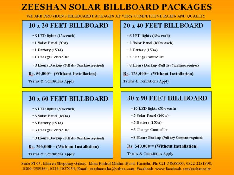 BILLBOARD PACKAGES