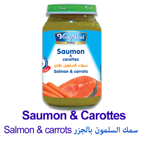 salmon and carrots