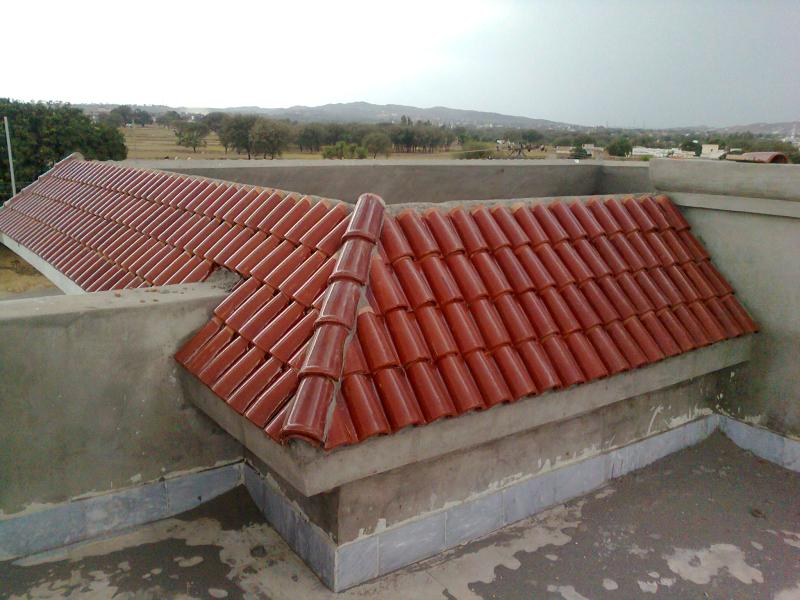 spanish glazed roof tile