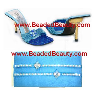 Ladies Party Shoes Matching Hand Bags