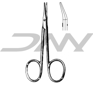 AEBLI Eye Scissors ( Str & Curved )  Size: 9cm